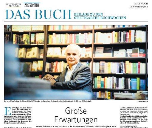 Die Beilage zu den Stuttgarter Buchwochen