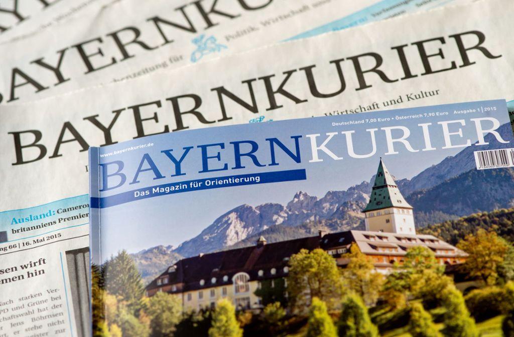 """Am 16. November erscheint die letzte Ausgabe des """"Bayernkurier"""". Foto: dpa/Sven Hoppe"""