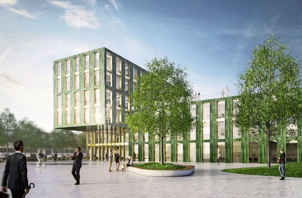 So soll die SDK-Zentrale in Zukunft aussehen. Foto: Entwurf Sacker Architekten