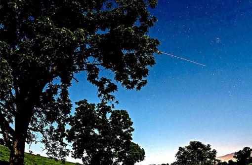 ISS: ziehender Stern von Menschenhand