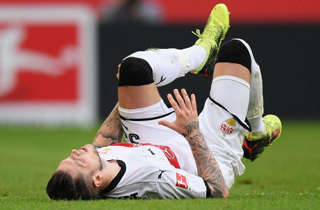 Daniel Ginczek hat sich im Laufe seiner Karriere immer wieder nach Verletzungen berappeln müssen – auch beim VfB Stuttgart hat den Stürmer erwischt. Foto:
