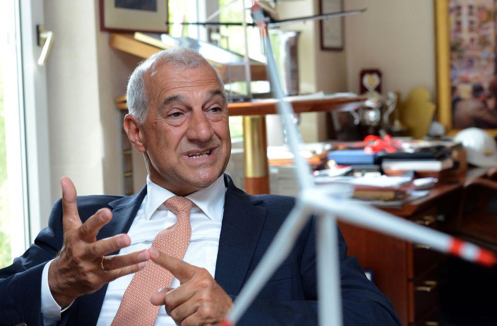 Der Geschäftsführer der Windreich GmbH, Willi Balz Foto: dpa
