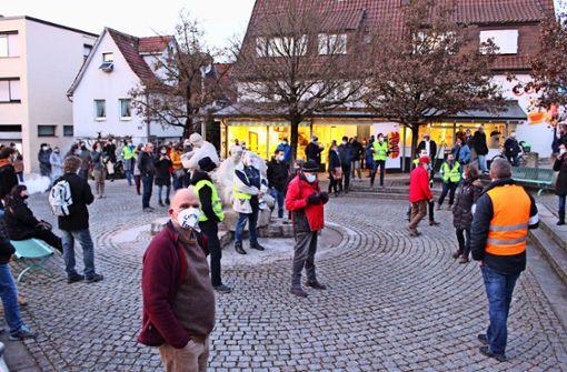 Jetzt wird auch in  Echterdingen demonstriert