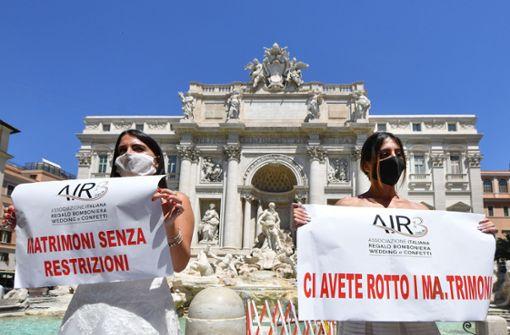 Corona sorgt für Hochzeitsflaute in Italien