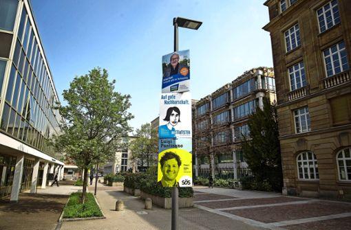 Zehntausende von Wahlplakaten in Stuttgarts Straßen