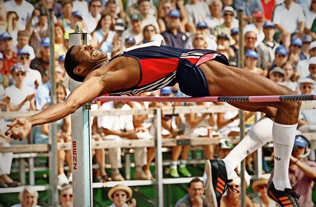1997: Javier Sotomayor gewinnt zum fünften Mal in Eberstadt – mit 2,35 Meter. Foto: