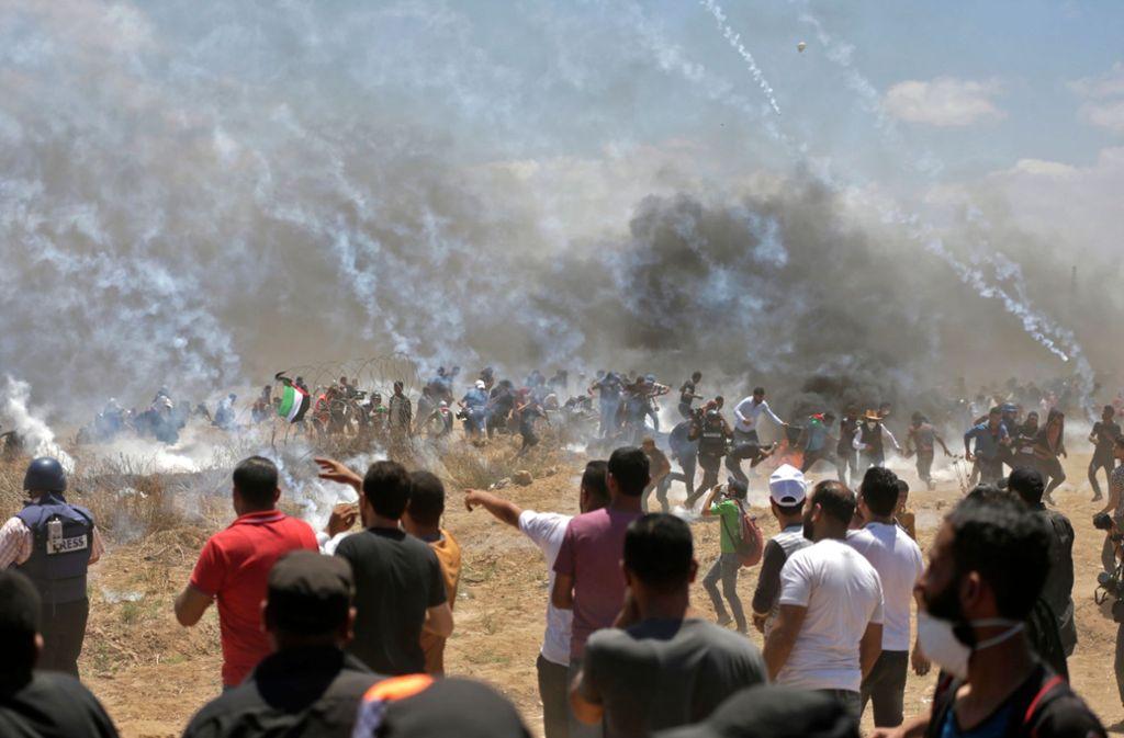 Am Gazastreifen kam es erneut zu Unruhen zwischen israelischen Soldaten und Palästinensern. Foto: AFP