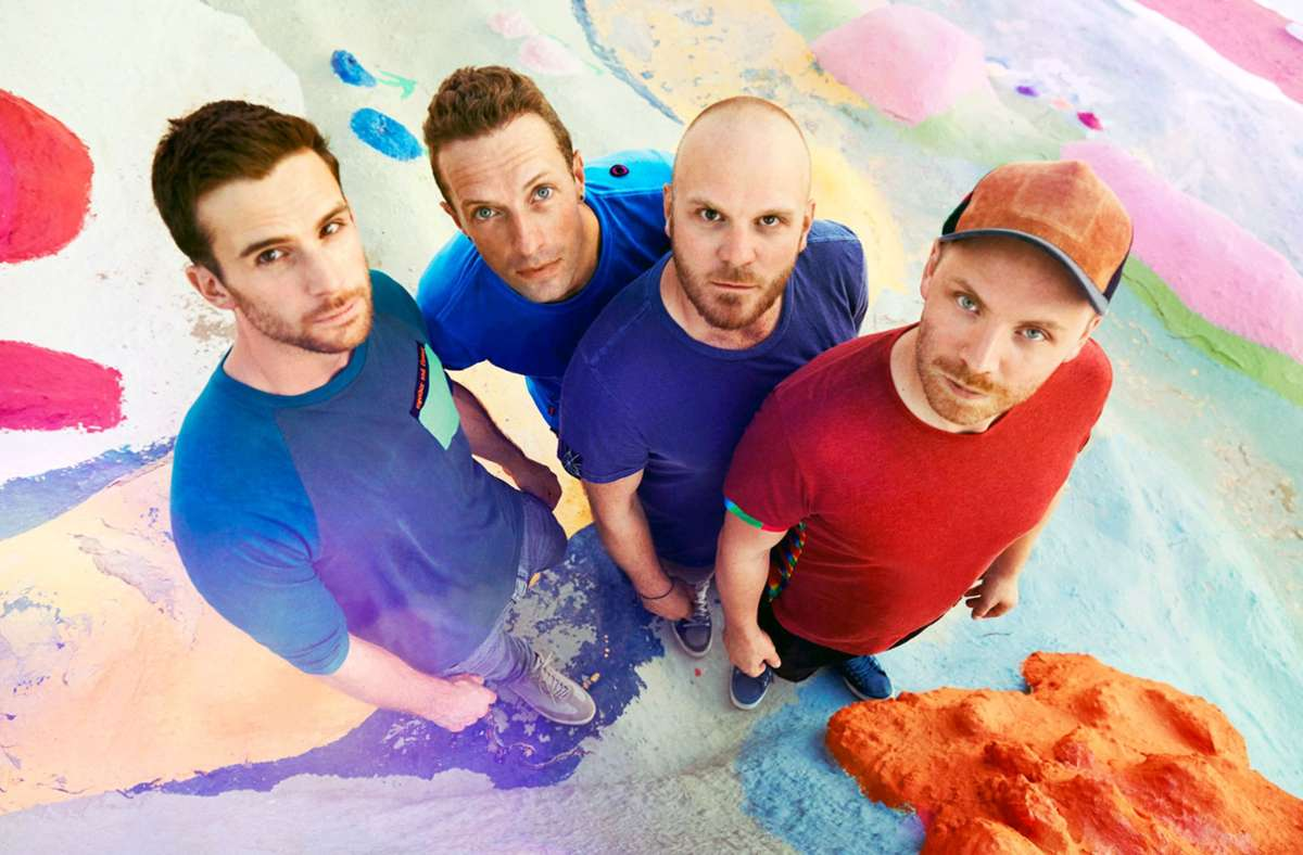 Coldplay hält den Spagat zwischen Freundesclique und globalem Mega-Act aus: Guy Berryman, Chris Martin, Will Champion, Jonny Buckland (v. li.) Foto: James Marcus Haney