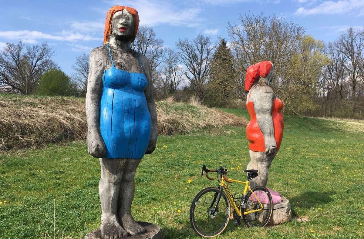 Die Polizei sucht nach Zeugen zur Beschädigung der Skulpturen. Foto: sd/KRZ