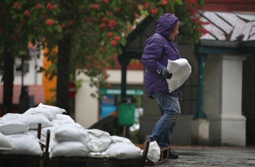 Heftige Niederschläge sorgen für Hochwasser
