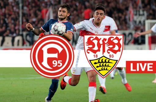 Fortuna Düsseldorf gegen den VfB Stuttgart