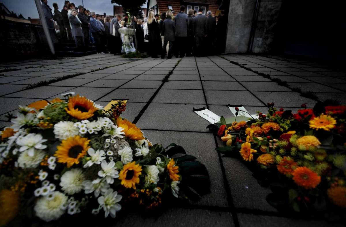 Trauerfeier für Yvan Schneider 2007: die Anteilnahme der Bevölkerung war groß. Foto: Gottfried Stoppel