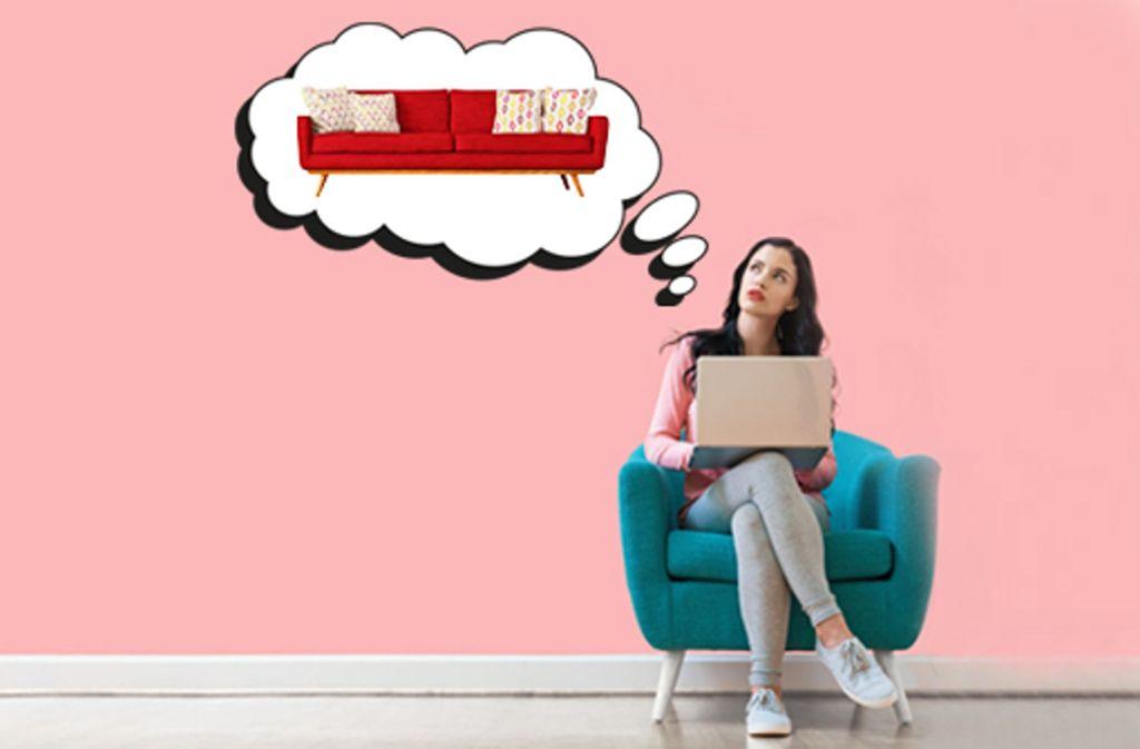 Sofa oder Stuhl? Im Internet lässt sich nahezu jedes Möbel kaufen. Foto: Adobe Stock/Tierney/Vadim Andrushchenko/Gunnar Assmy/dimakp