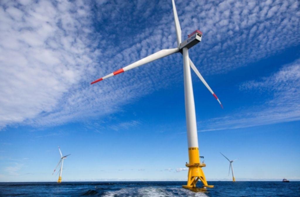 """Vor der Insel Rügen steht der gewaltige Windpark """"Baltic 2"""". Foto: dpa"""