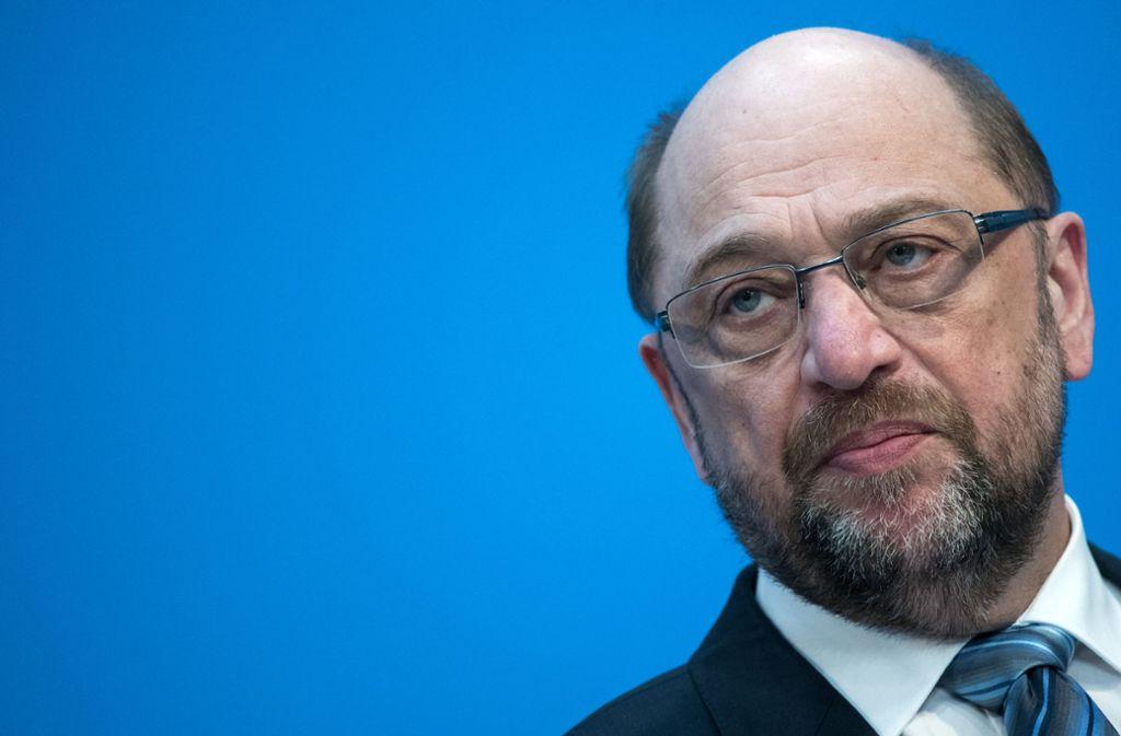 Noch-SPD-Chef Martin Schulz tritt doch nicht beim Politischen Aschermittwoch seiner Partei in Ludwigsburg auf. Foto: dpa