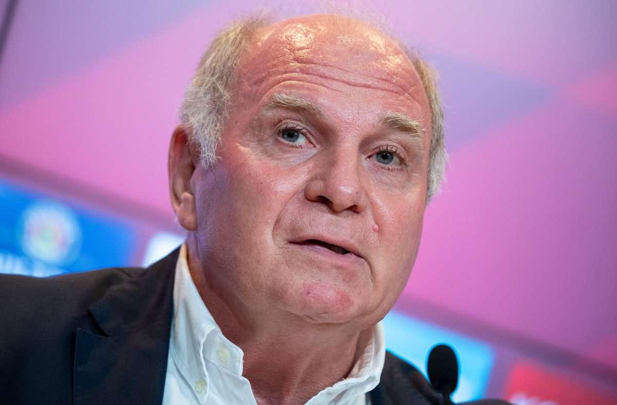 Abteilung Attacke im TV: Uli Hoeneß steht künftig in Diensten von RTL. Foto: dpa/Sven Hoppe