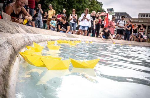 Einige Hundert bei Rackete-Demo in Stuttgart