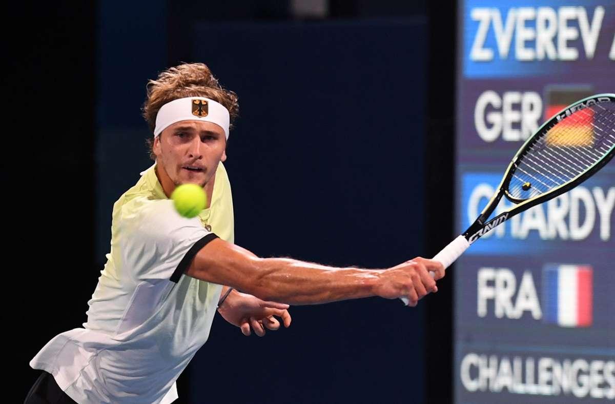 Alexander Zverev gewann sein Viertelfinale souverän. Foto: dpa/Swen Pförtner