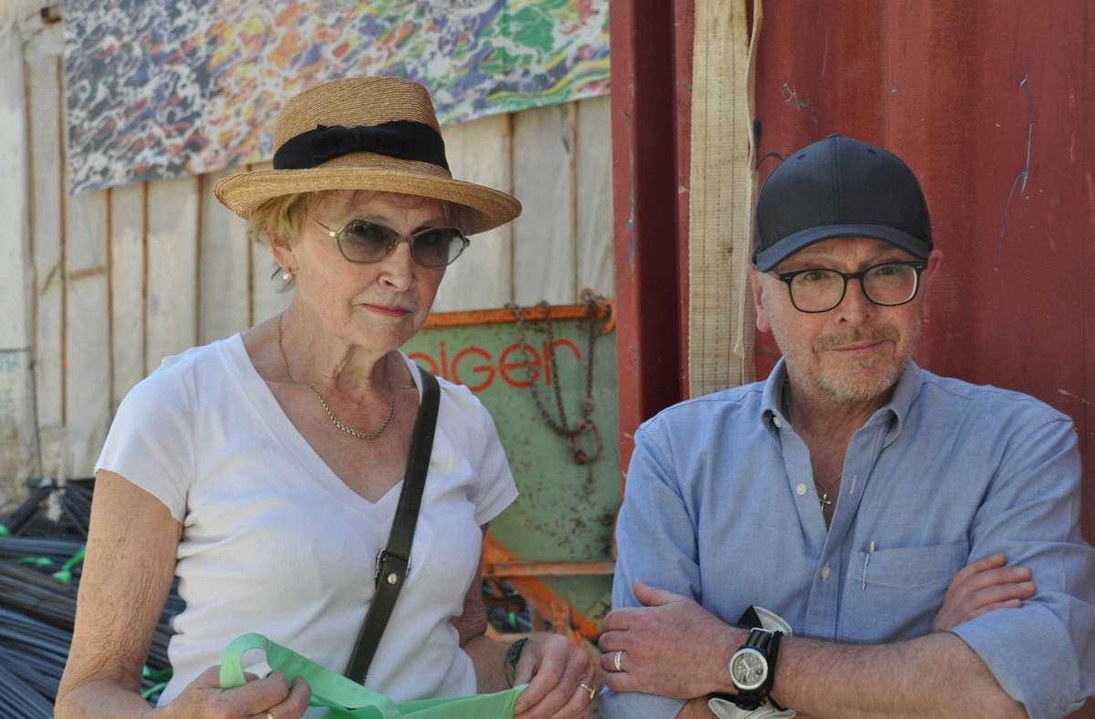 Stefan Sasse und Marianne Ott-Meimberg wollen aus der Türkenstraße nicht weichen. Foto: dpa/Sven Hoppe