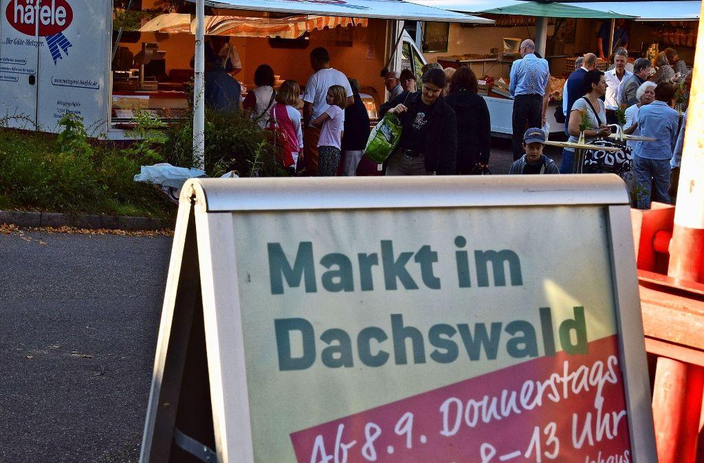 Am 8. September ist der erste Markttag im Dachswald gewesen – am 24. November ist der letzte. Foto: Alexandra Kratz