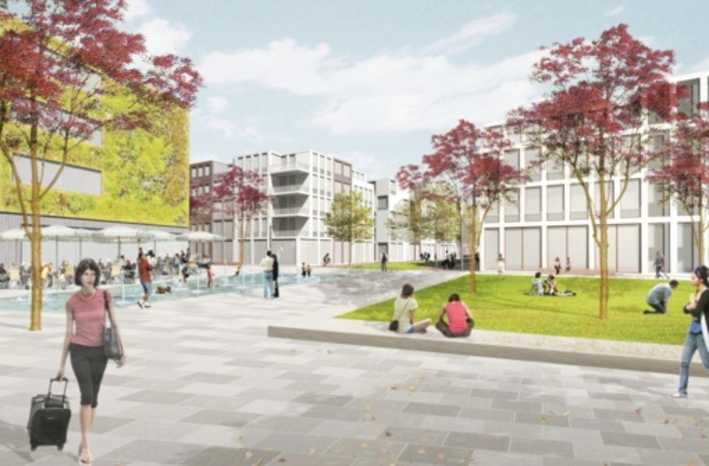 So könnte das frühere Schoch-Gelände in Zukunft aussehen. Foto: Schüler Architekten