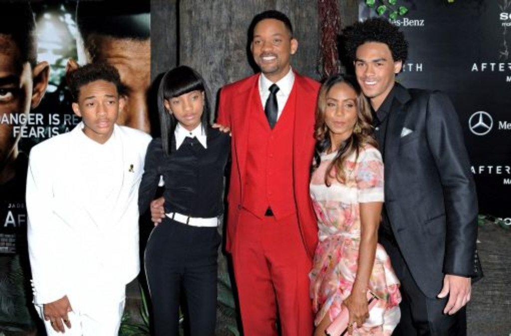 Der Smith-Clan (von links nach rechts): Jaden, Willow, Will, Jada Pinkett Smith und Trey. Foto: dpa