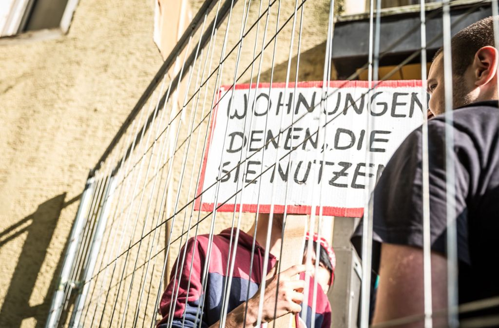 Dieses Haus in Bad Cannstatt wurde von den Aktivisten am Donnerstag besetzt. Foto: Lichtgut/Julian Rettig
