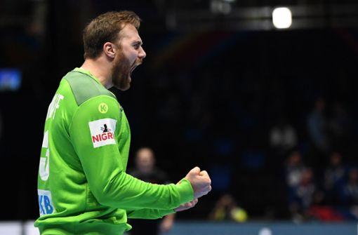 Deutsche Handballer starten mit Sieg ins Turnier
