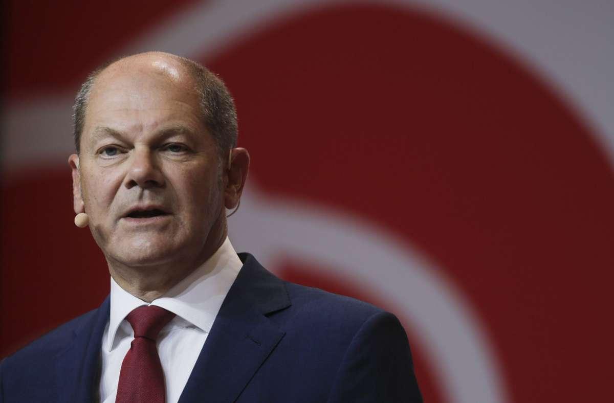 Olaf Scholz ist Kanzlerkandidat der SPD. Foto: AP/Markus Schreiber