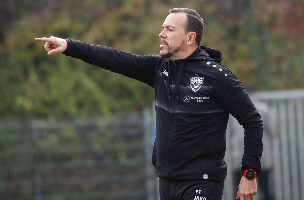 Gibt beim VfB II nicht mehr die Richtung vor: Trainer Paco Vaz. Foto: Baumann