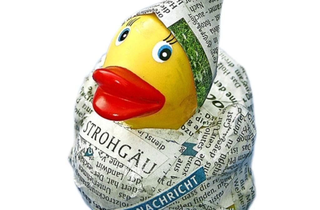 Die Zeitungsente, das unbekannte Wesen Foto: