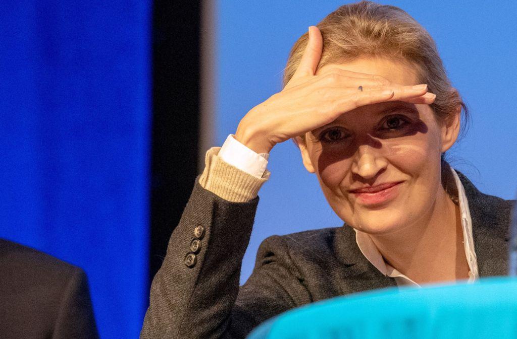 Bundestagsfraktionschefin Alice Weidel von der AfD Foto: dpa