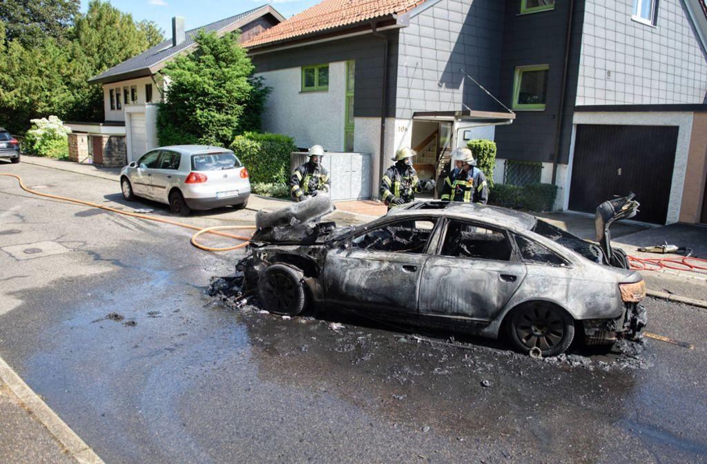 Die Feuerwehr löschte den Brand. Foto: