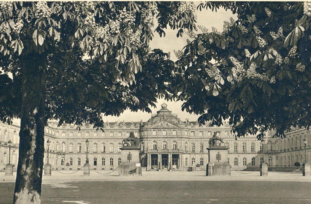 """""""Wo sind heute die Bäume?"""" Diese Frage wird im Internet-Forum des Stuttgart-Albums zu dieser Aufnahme vom  Neue Schloss aus dem Jahr  1908  häufig gestellt. Foto: Paul Hommel"""