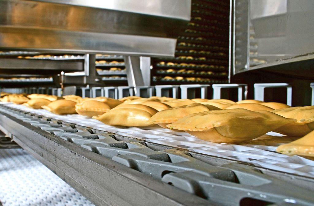 Maultaschen-Produktion bei Bürger. Das Familienunternehmen will dieses Jahr im Werk Crailsheim eine weitere Maultaschen-Produktionslinie in Betrieb nehmen. Foto: Bürger