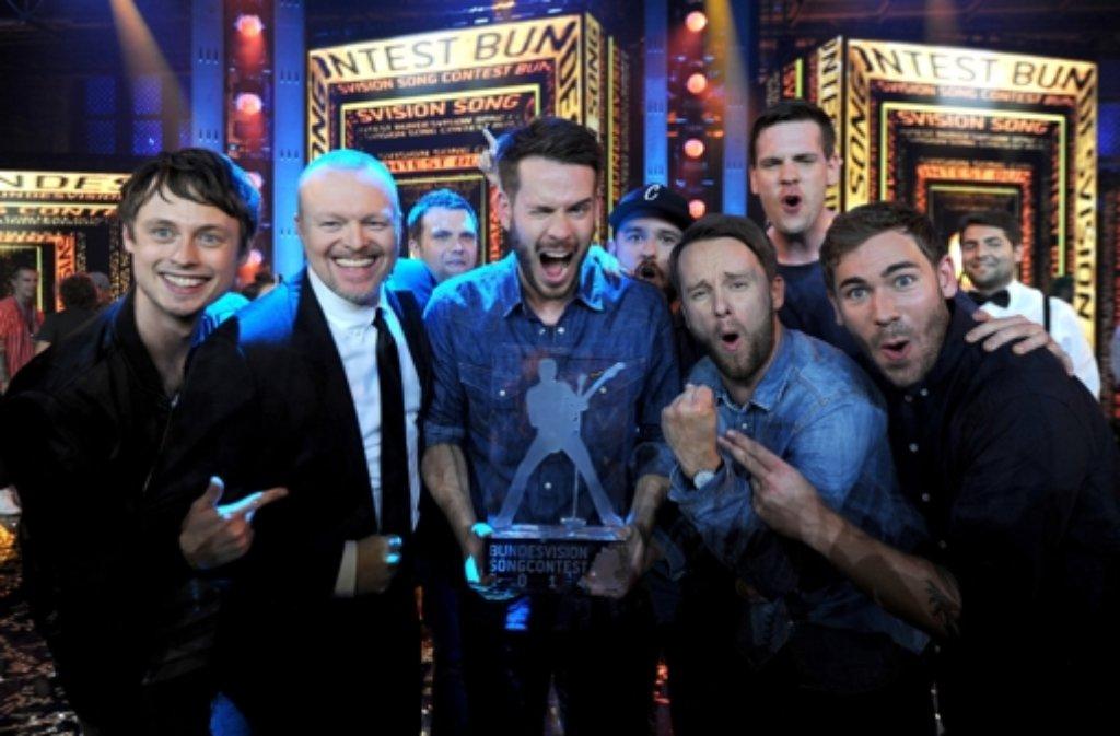 Die Band Revolverheld gewinnt den Bundesvision Song Contest von Stefan Raab.  Foto: dpa