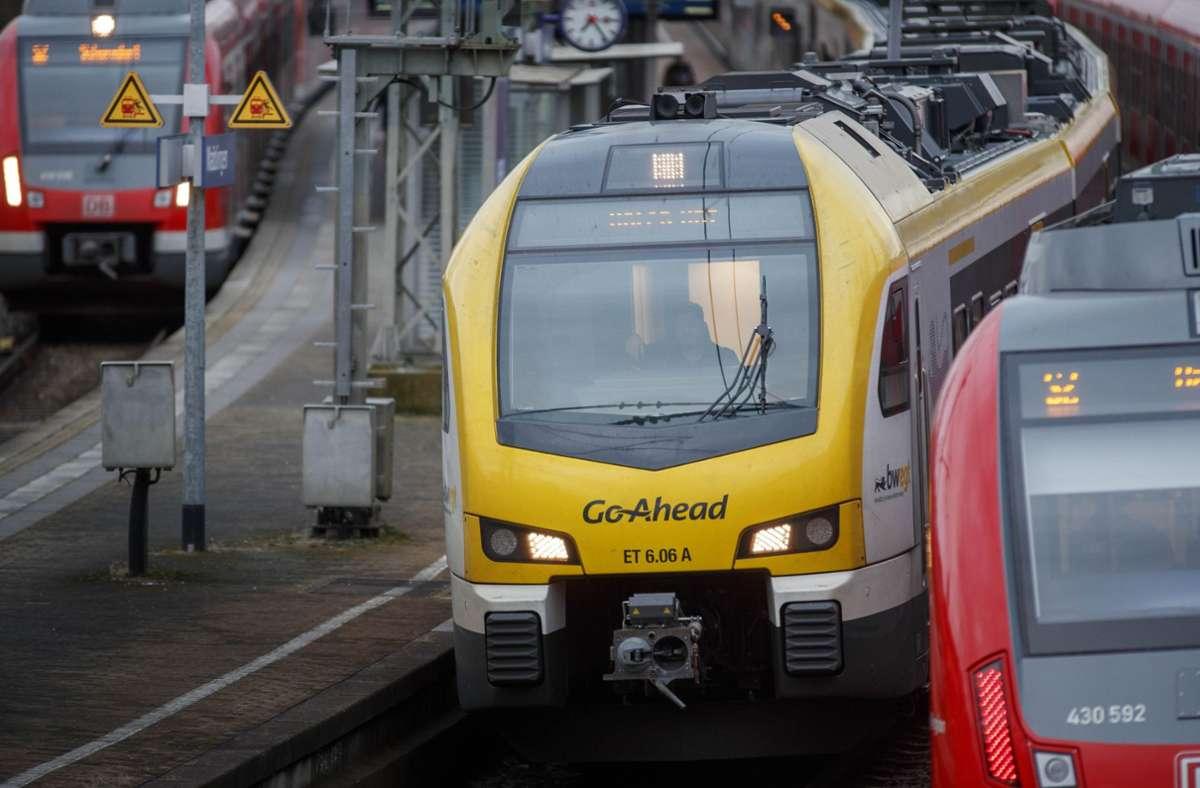 In einem Regionalzug ist bei Backnang am Dienstag eine Fahrausweiskontrolle eskaliert. Foto: Gottfried Stoppel