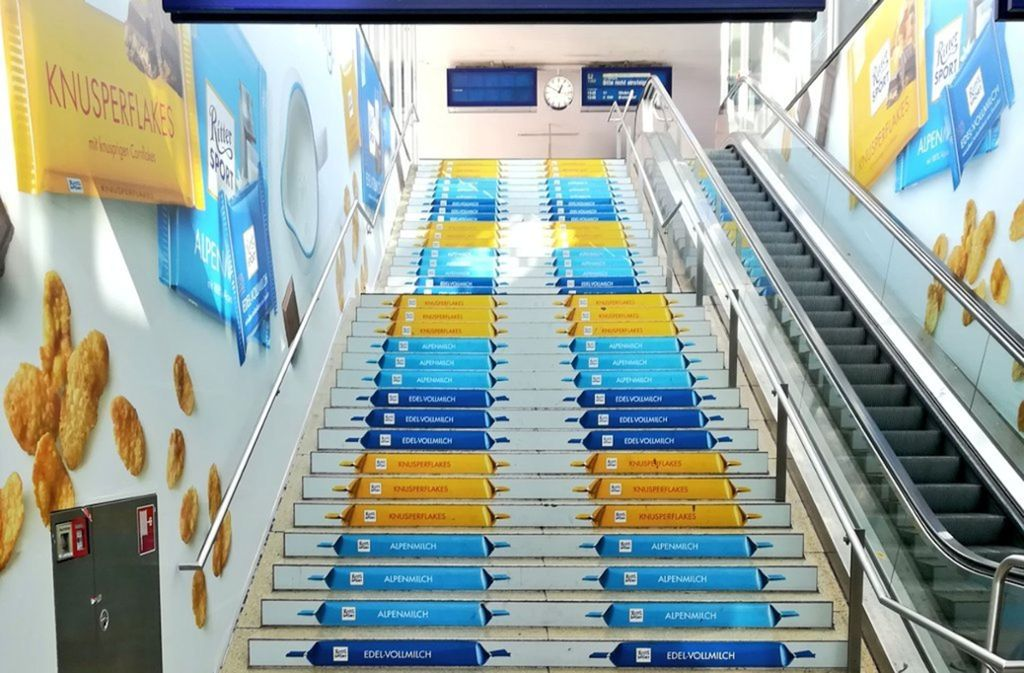 Ritter Sport sorgt in Hannover mit dieser Werbeaktion derzeit für Gesprächsstoff. Foto: Twitter-Userin Tante Anna