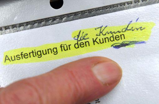 Anrede in Formularen bleibt männlich –  Beschwerde abgewiesen