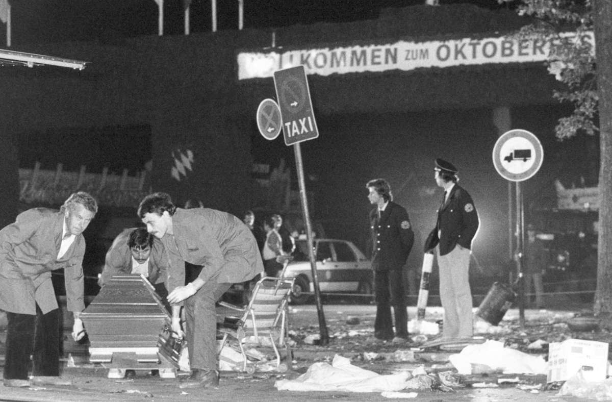 Tod und Zerstörung: Das Oktoberfest am Tag des Attentats 1980 Foto: dpa/Frank Leonhardt