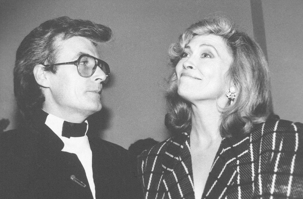 Terry O'Neill mit seiner Ex-Gattin Faye Dunaway Foto: AP/Erica Lansner