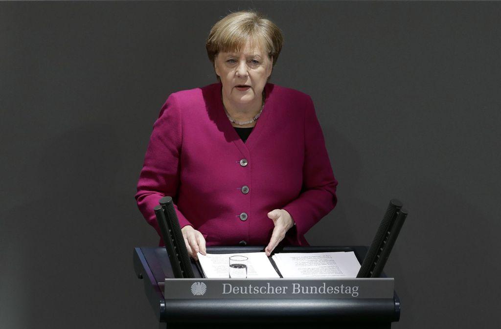 Angela Merkel ist überzeugt, dass die Mehrheit der Muslime radikalen Islamismus ablehne. Foto: AP