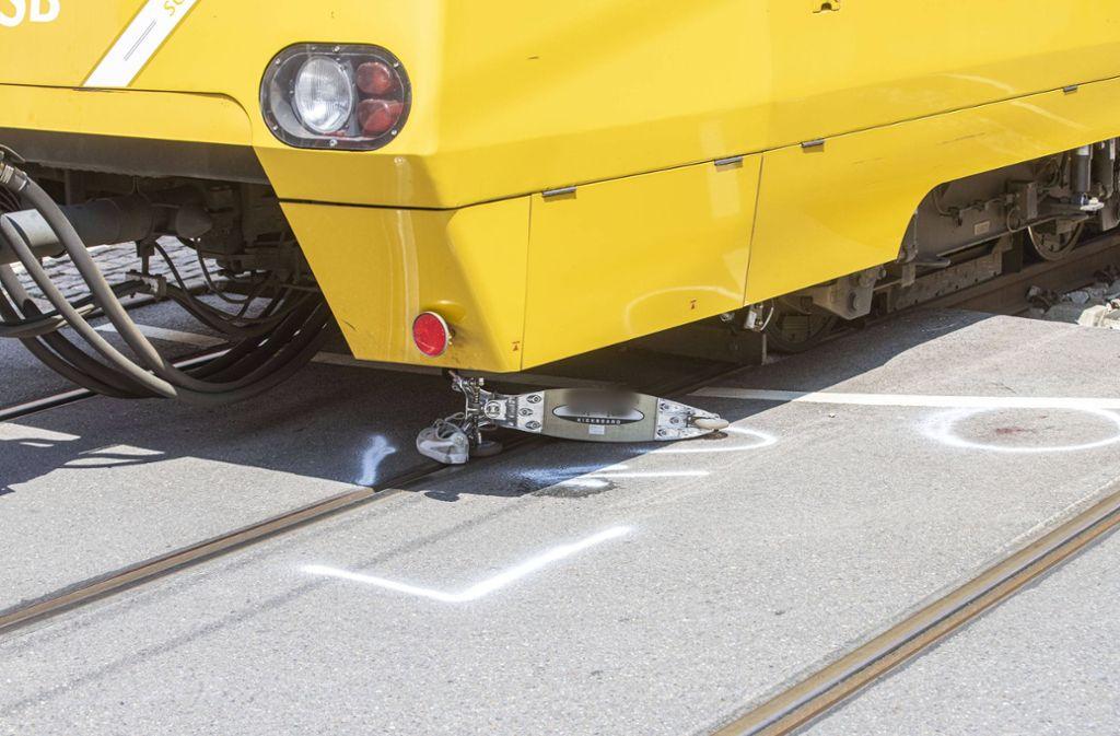 Wie genau es zu dem Unfall mit der Stadtbahn kam, ist derzeit noch unklar. Foto: 7aktuell.de
