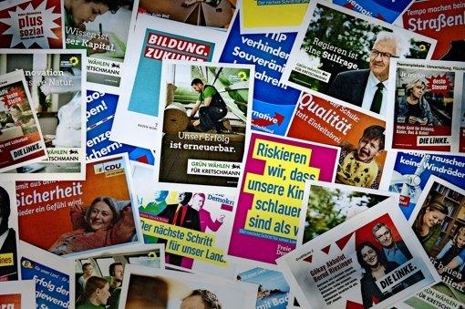 Die Auswahl für die Wähler ist groß, in der Landeshauptstadt Stuttgart ringen aber in erster Linie Grüne und CDU um die Verteilung der Erstmandate. Foto: dpa