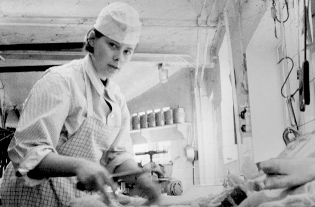 Gudrun Ströbel im Jahr 1967 – gefilmt vom Süddeutschen Rundfunk. Foto: Fleischermuseum