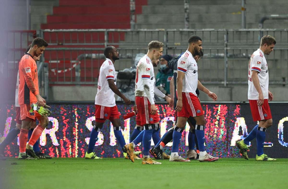 Der Hamburger SV hat das Derby gegen St. Pauli verloren. Foto: dpa/Christian Charisius