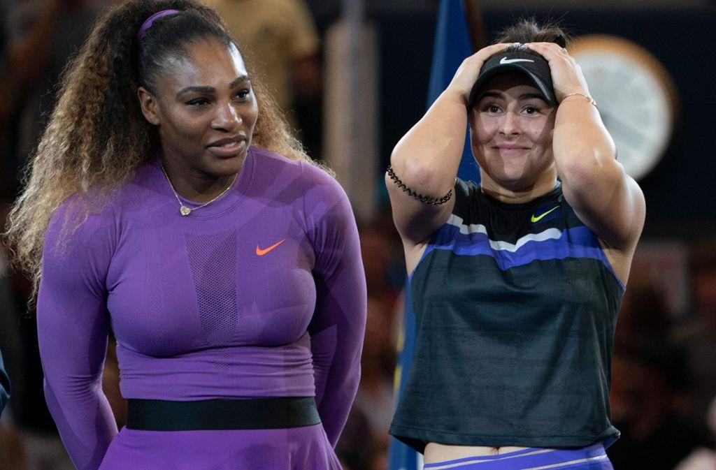 Bianca Andreescu kann ihren Sieg bei den US Open gegen Serena Williams noch gar nicht fassen. Foto: AFP