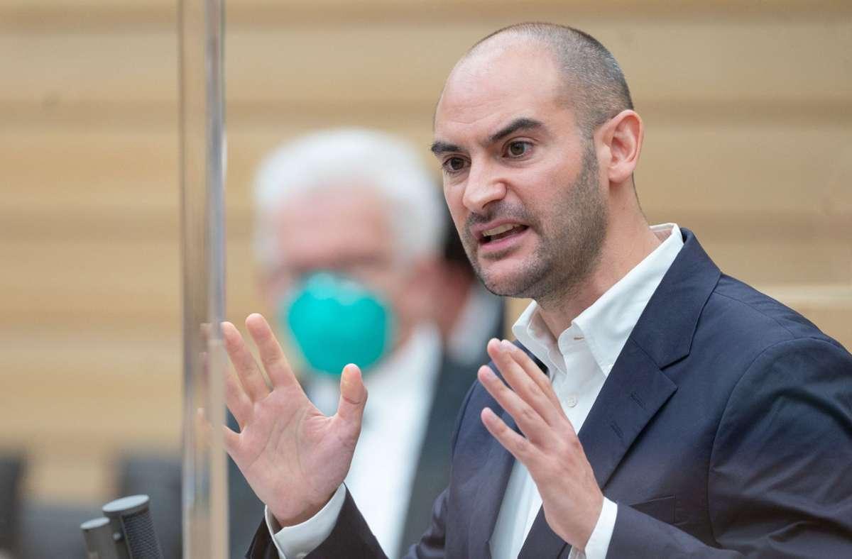 Finanzminister Danyal Bayaz (Grüne) Foto: dpa/Marijan Murat