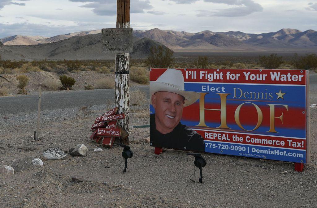 Dennis Hof, der sich in das Landesparlament Nevadas hat wählen lassen wollen, ist am Morgen nach seiner Geburtstagsfeier tot in einem Bordell aufgefunden worden. Foto: AP