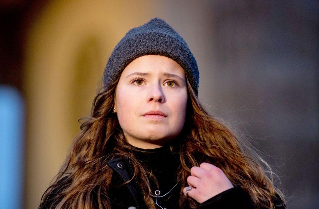Luisa Neubauer von Fridays for Future holt zur verbalen Attacke gegen Siemens aus. Foto: dpa/Christoph Soeder